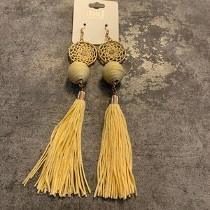 Boho long tassel earrings